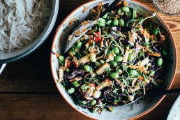 The Super Noodle Salad w. Tahini Dressing