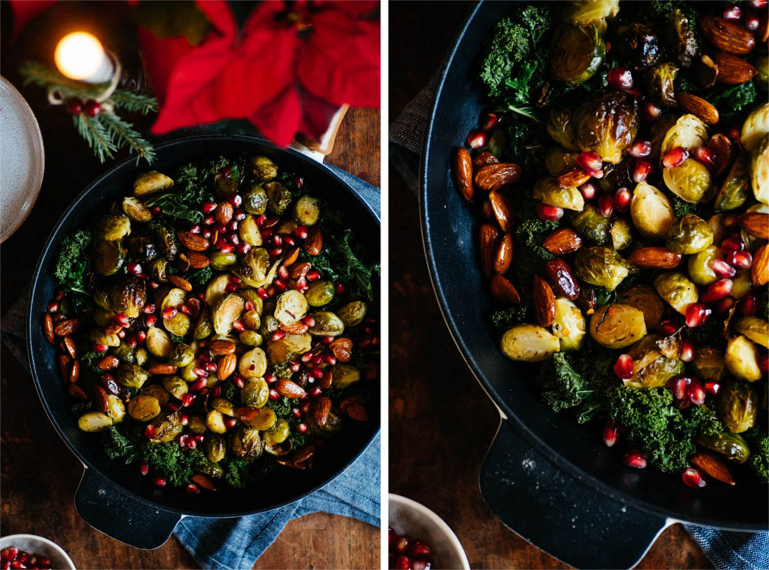 Brussels Sprout Salad W Kale Pomegranate Smokey