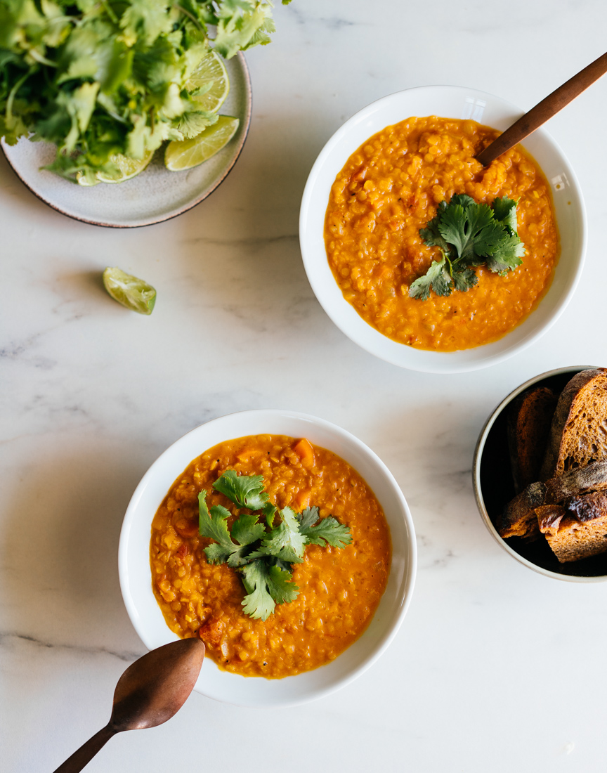 SPICED LENTIL SOUP W/ COCONUT MILK AND TOMATO | Good Eatings